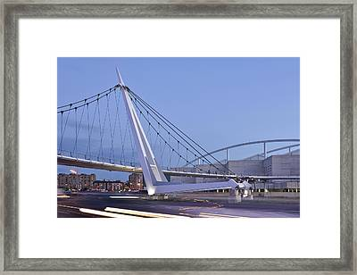 Modern Bridge Zaragoza Delicias Framed Print by Marek Stepan