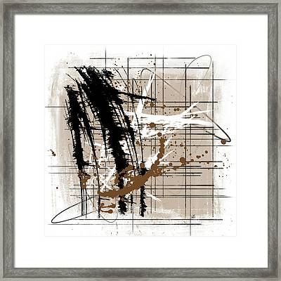 Modern Brown 2 Framed Print by Melissa Smith