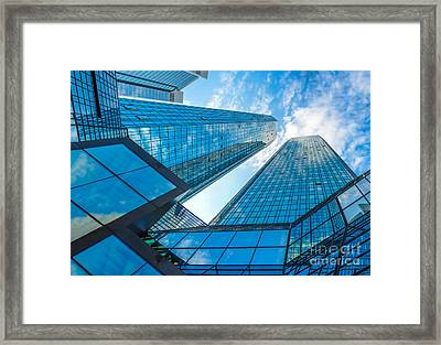 Modern Business Skyscrapers Framed Print