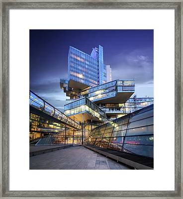 Modern City Lights Framed Print