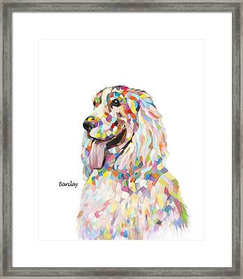 Modern Cocker Spaniel Framed Print by Enzie Shahmiri