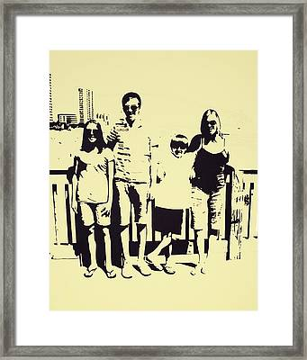 Modern Day Single Mom Family Vacation  Framed Print by Sheri Buchheit