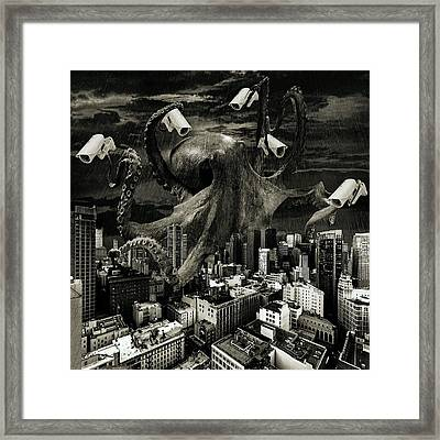 Modern Freedom Black And White Framed Print