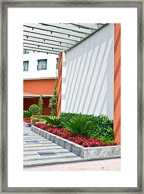 Modern Garden Framed Print