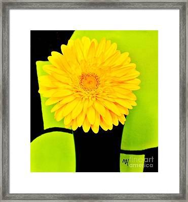 Framed Print featuring the photograph Modern Gerber by Marsha Heiken