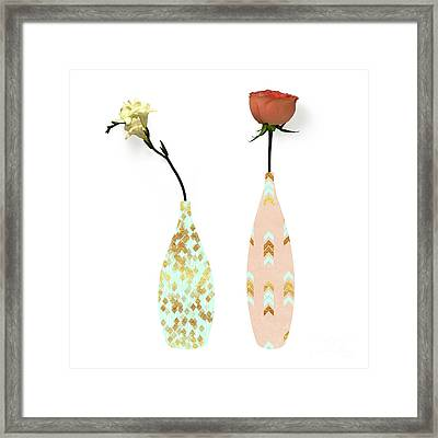 Modern Home II A Fresh Take On Floral Art Framed Print by Tina Lavoie