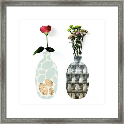 Modern Home Iv A Fresh Take On Floral Art Framed Print by Tina Lavoie