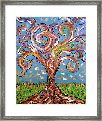 Modern Impasto Expressionist Painting  Framed Print