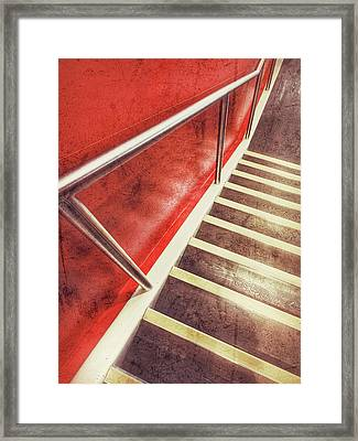 Modern Interior Stairs Framed Print by Tom Gowanlock
