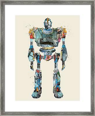 Modern Iron Giant Framed Print