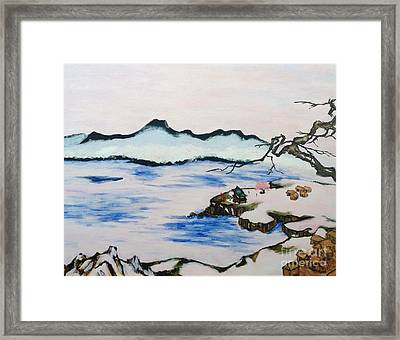 Modern Japanese Art In The Shadow Of The Past - Utsumi And Kano School Framed Print by Sawako Utsumi