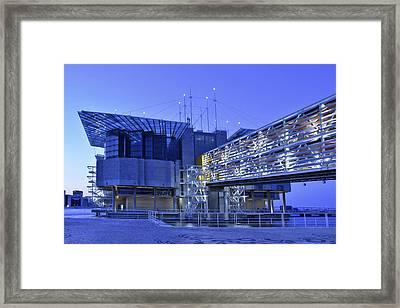 Framed Print featuring the photograph Modern Lisbon Aquarium by Marek Stepan