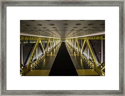 modern looking pedway in Chicago Framed Print