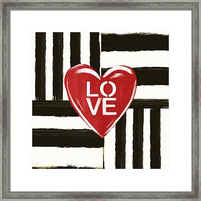 Modern Love- Art By Linda Woods Framed Print by Linda Woods