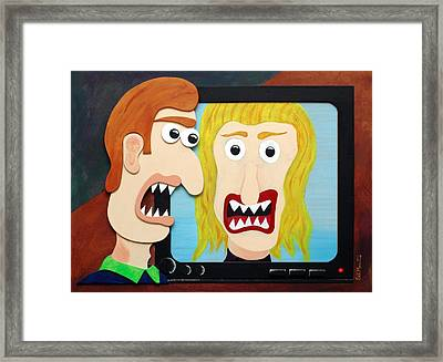 Modern Love Framed Print by Sal Marino