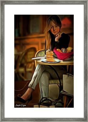 Modern Marie Antoinette - Da Framed Print