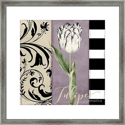 Modern Mauve II Framed Print by Mindy Sommers