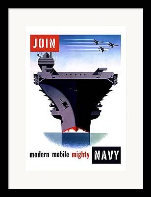 Naval History Framed Prints