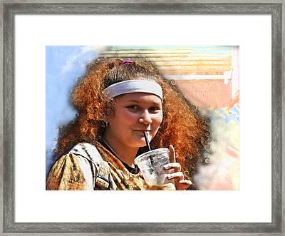 Modern Mona Lisa Framed Print
