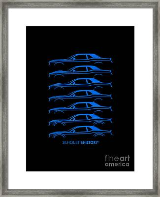 Modern Muscle Pony Silhouettehistory Framed Print