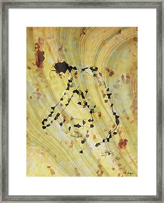 Modern Nude Art 2 By Sharon Cummings Framed Print by Sharon Cummings