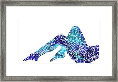 Modern Nude - Legs - Sharon Cummings Framed Print by Sharon Cummings