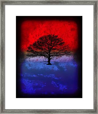 Modern Paintings Abstract Tree Wall Art Framed Print by Robert R Splashy Art