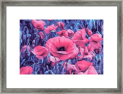 Modern Poppies Framed Print