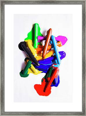 Modern Rainbow Art Framed Print
