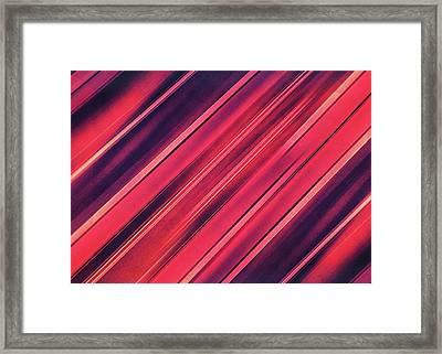 Modern Red Black Stripe Abstract Stream Lines Texture Design  Framed Print