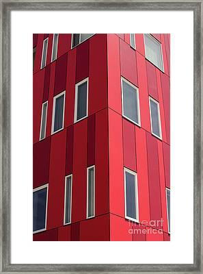 Modern Red Framed Print