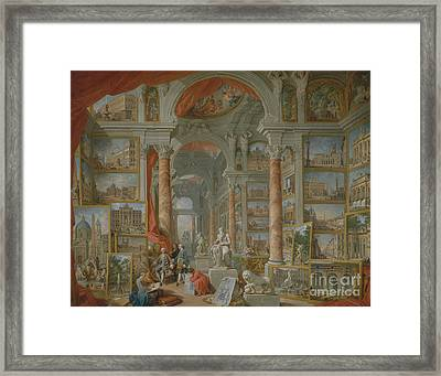 Modern Rome, 1757 Framed Print by Giovanni Paolo Pannini