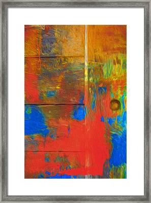 Modern Rustic Doorway Framed Print by Georgiana Romanovna