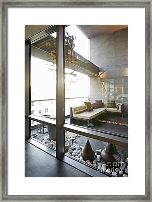 Modern Sofa And Sculptures Framed Print by Andersen Ross