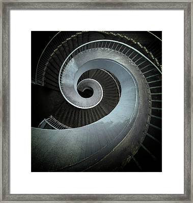 Modern Spiral Stairs Framed Print