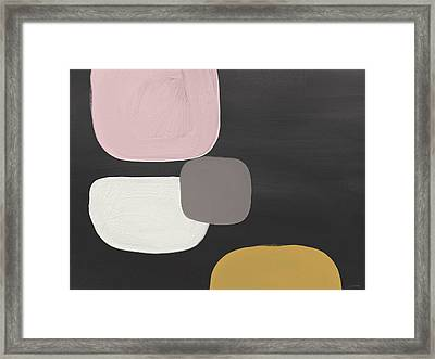 Modern Stones- Art By Linda Woods Framed Print by Linda Woods