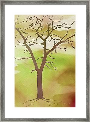 Modern Tree Art Framed Print