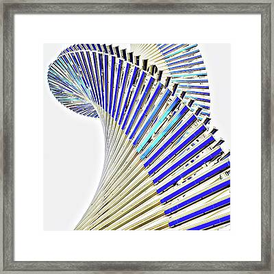 Modern Twist Sculpture Framed Print