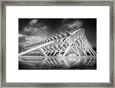 Modern Valencia In Black And White  Framed Print