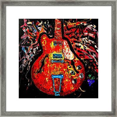 Modern Vintage Guitar Framed Print