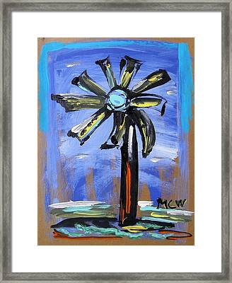 Framed Print featuring the painting Modern Wind Power by Mary Carol Williams