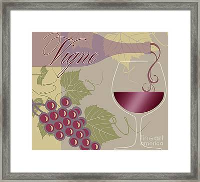 Modern Wine II Framed Print by Mindy Sommers