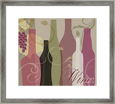 Modern Wine IIi Framed Print by Mindy Sommers