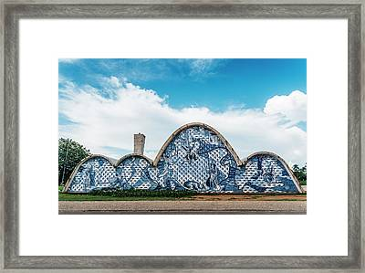 Modernist Church Of Sao Francisco De Assis In Belo Horizonte, Brazil Framed Print