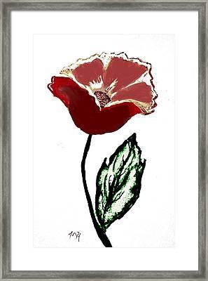 Framed Print featuring the drawing Modernized Flower by Marsha Heiken