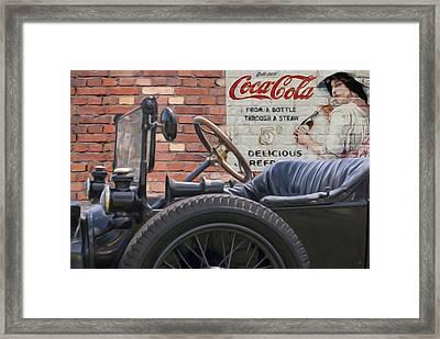 Modet T Vintage Coke Ghost Image Framed Print
