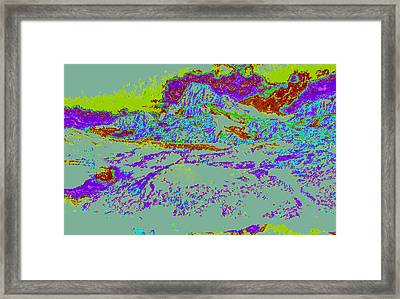 Modified Mountain Ddd4 Framed Print by Modified Image