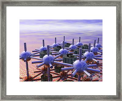 Modular City Framed Print by Nicholas Burningham