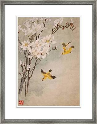 Framed Print featuring the painting Mognolia by Ping Yan