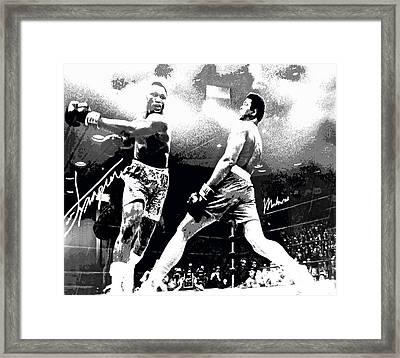 Mohamed Ali Float Like A Butterfly Framed Print
